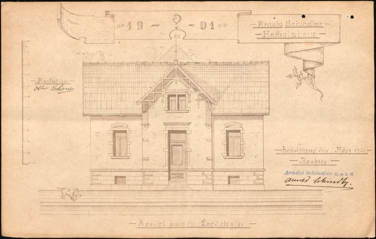 Bau und Betrieb einer Zigarrenfabrik durch die Firma Arnold Schindler aus Herbolzheim, Bild 2