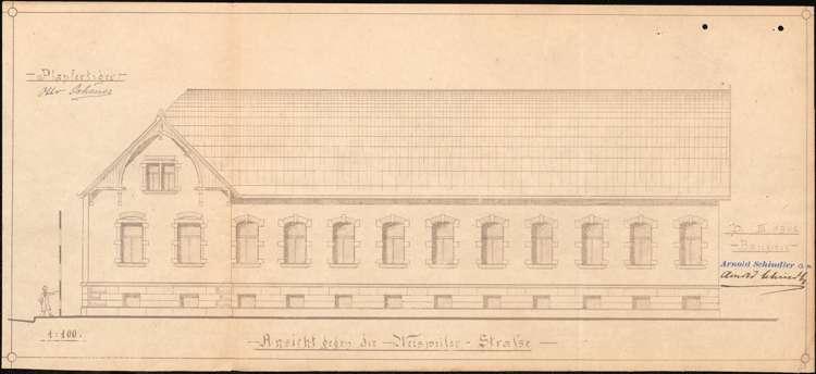 Bau und Betrieb einer Zigarrenfabrik durch die Firma Arnold Schindler aus Herbolzheim, Bild 3