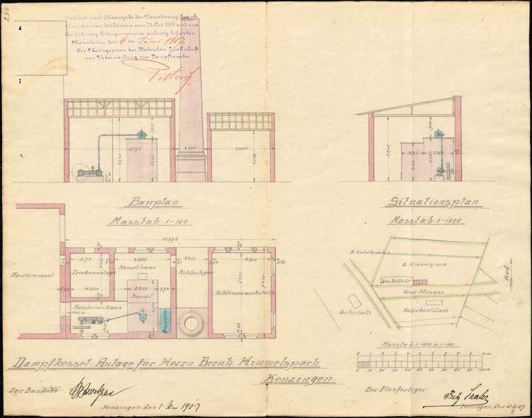 Arbeitsordnung der Holzwarenfabrik Bernhard Himmelsbach; Aufstellung eines Dampfkessels, Bild 2