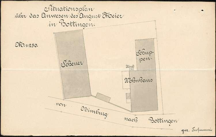 Errichtung einer Zigarrenfabrik in Bottingen als Filiale des Stammwerks in Hugstetten durch E. Hafner, Bild 2
