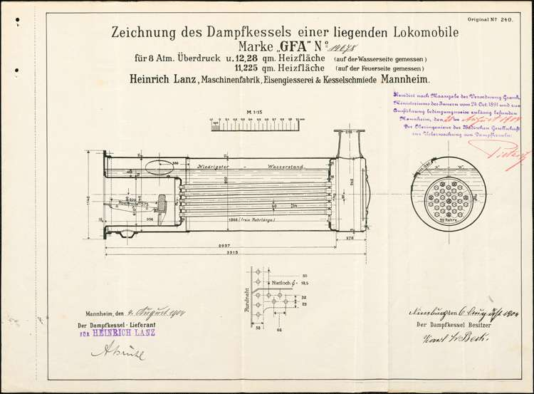 Aufstellung eines Lokomobile durch den Müller Karl Fr. Beck, Bild 1