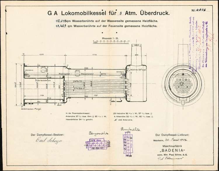 Anlegung eines Dampfkessels durch Karl Scherzer, Bild 1