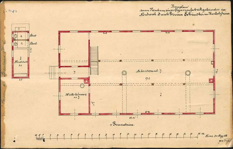 Bau und Betrieb einer Zigarrenfabrik in Nordweil durch die Firma Arnold Schindler in Herbolzheim, Bild 2