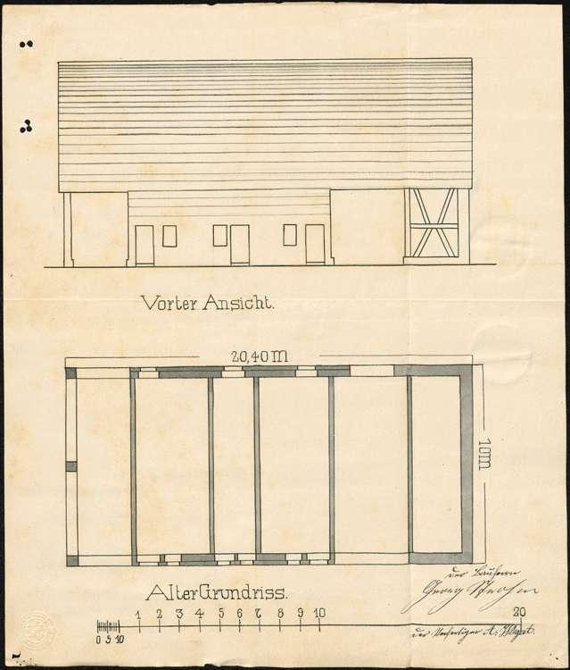 Errichtung und Betrieb einer Zigarrenfabrik in Vörstetten durch Georg Strohm, Denzlingen, Bild 1