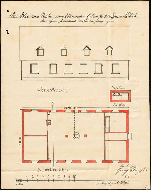 Errichtung und Betrieb einer Zigarrenfabrik in Vörstetten durch Georg Strohm, Denzlingen, Bild 2