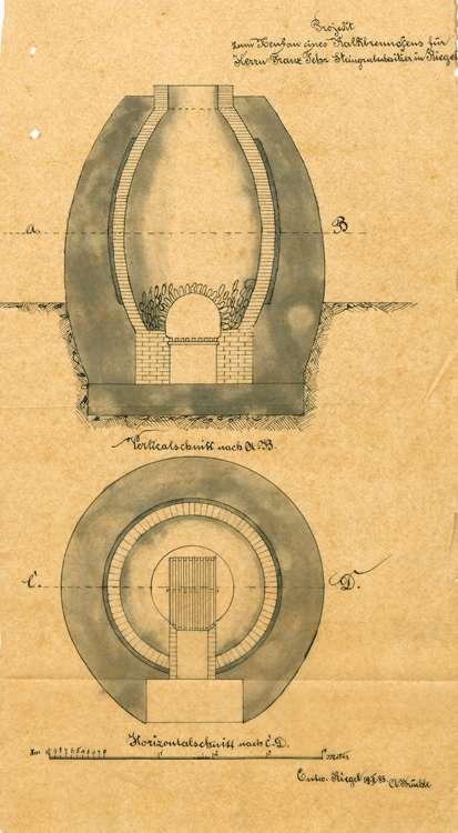 Erbauung eines Kalkbrennofens durch Franz Fehr, Bild 2