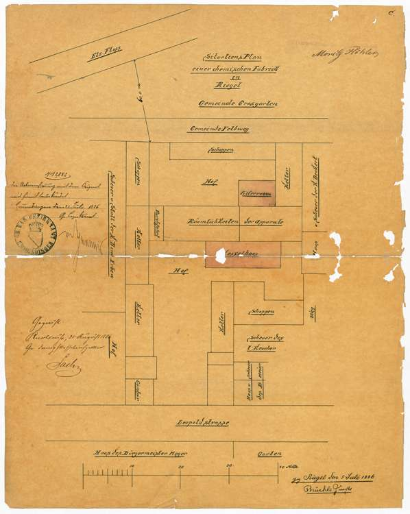 Errichtung einer chemischen Fabrik durch die Handelsgesellschaft Moritz Köhler, später Stähle & Haßler, Bild 2