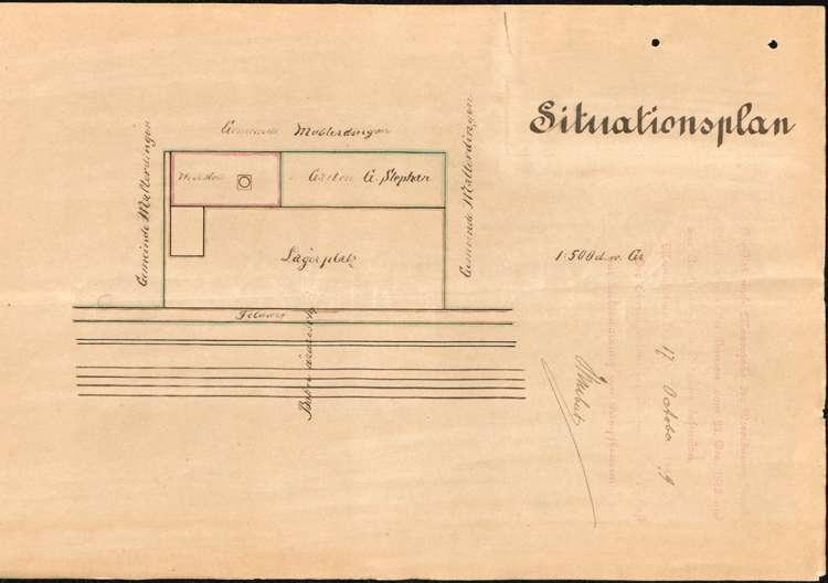 Aufstellung eines Dampfkessels durch den Holzhändler Georg Stephan, Bild 3