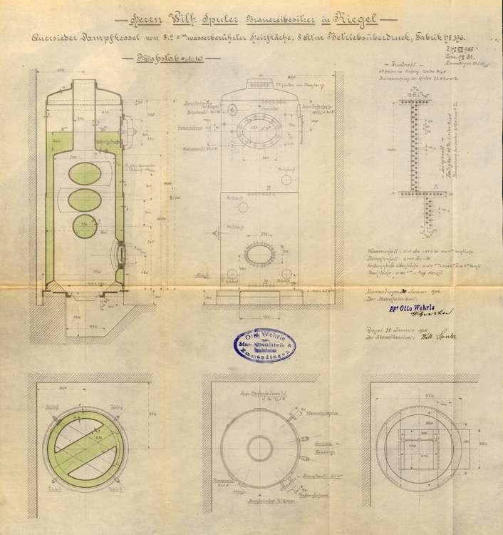 Aufstellung eines Dampfkessels durch den Bierbrauer Wilhelm Spuler, Bild 1
