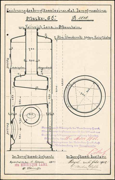 Aufstellung eines Dampfkessels durch die Firma Chr. Haßler, Bild 1