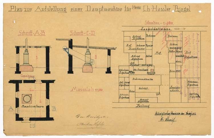 Aufstellung eines Dampfkessels durch die Firma Chr. Haßler, Bild 2