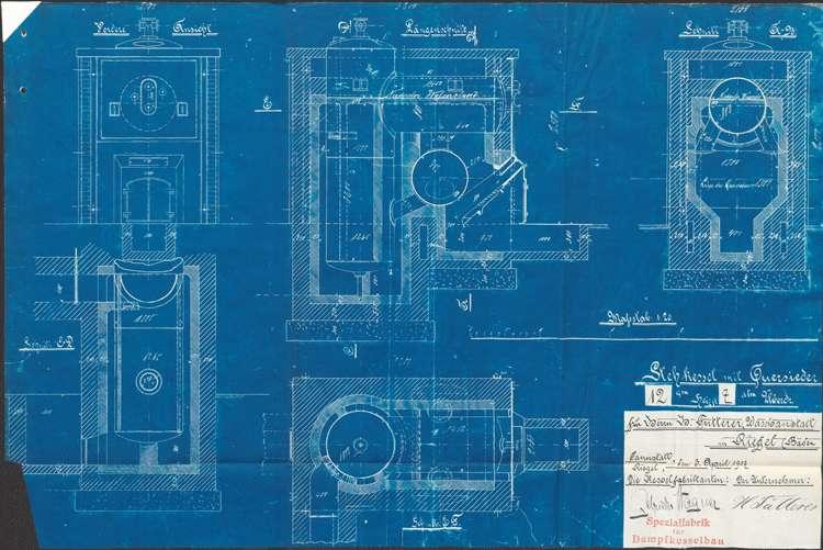 Aufstellung eines Dampfkessels durch Hermann Futterer, Bild 2