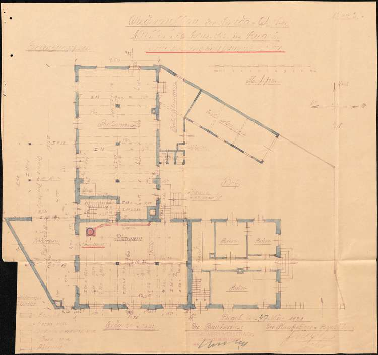 Aufstellung eines Dampfkessels durch die Firma Heida-Werke Müller & Co., Bild 3