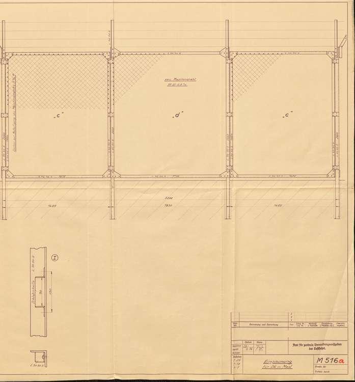Errichtung eines eisernen Gittermasts für Flugstreckenfeuer, Bild 3