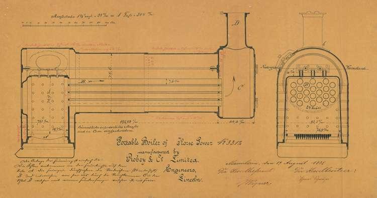 Gesuch des Thomas Schweizer in Wyhl um Erlaubnis zur Inbetriebnahme eines fahrbaren Locomobil-Dampfkessels, Bild 2