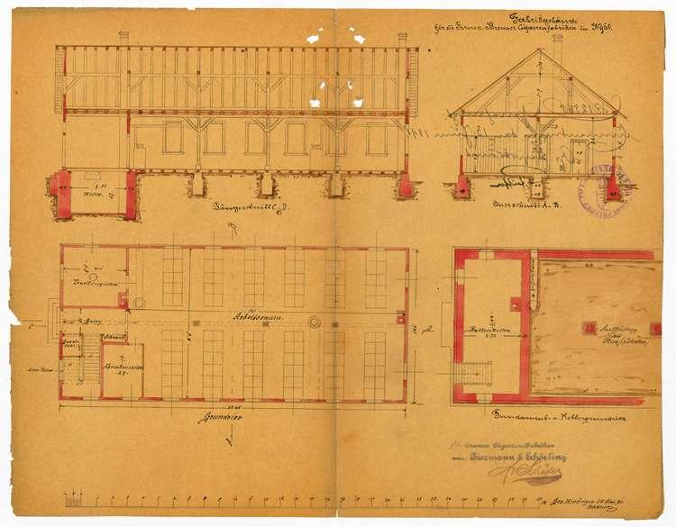Bau und Betrieb einer Zigarrenfabrik in Wyhl durch die Firma Bremer Zigarrenfabrik, vormals Biermann & Schörlin, Bild 3