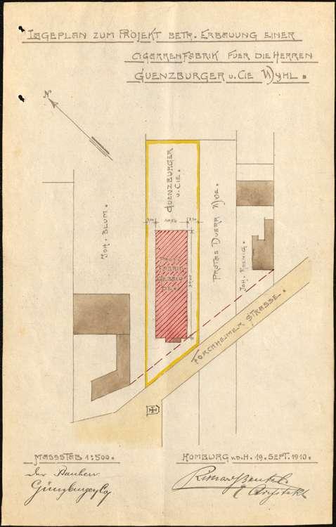 Errichtung einer Zigarrenfabrik in Wyhl durch die Firma H. Günzburger & Cie in Emmendingen, Bild 2
