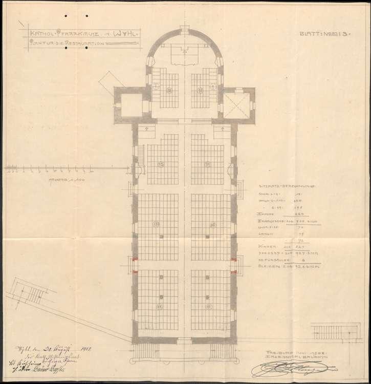 Kirchenrestaurierung in Wyhl, Bild 1