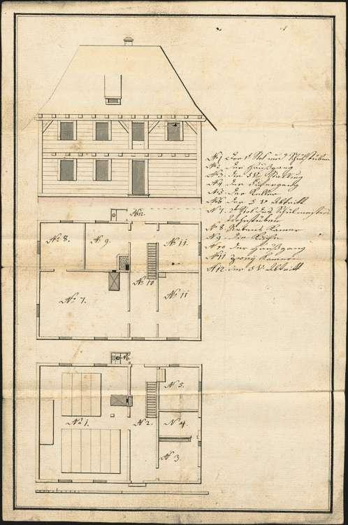 Erbauung und Unterhaltung des Schulhauses und diesbezügliche Anordnungen, Bild 1