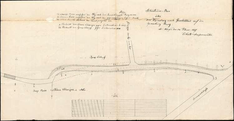 Herstellung des Geroldstäler Weges bis zur Brücke nach der Gemarkung Burg, Bild 1