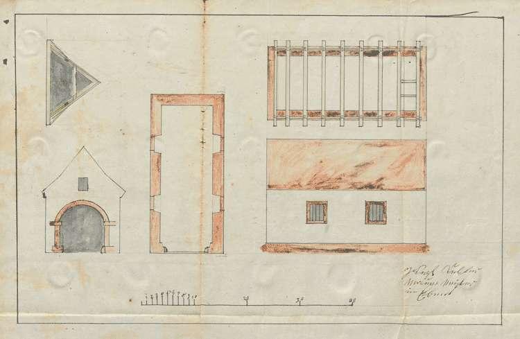 Erbauung eines Feuerlöschspritzenhauses, Bild 1