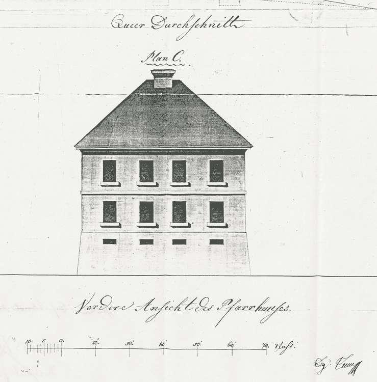 Baupflicht zum Kirchengebäude und zum Pfarr-, Schul- und Mesnerhaus, Bild 3