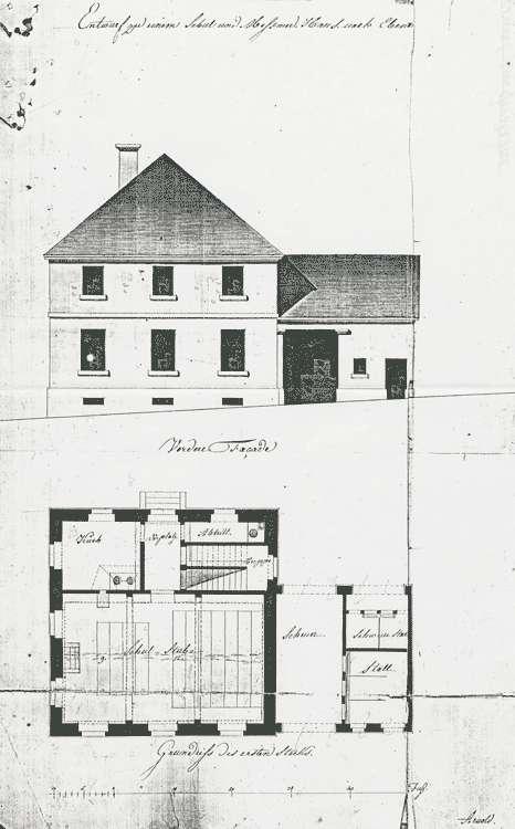 Erbauung und Unterhaltung des Schul-und Mesnerhauses, Bild 1