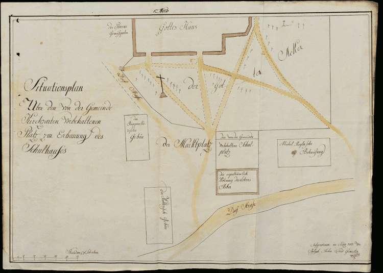Überlassung des Sigristenplatzes resp. -gartens zur Erbauung einer neuen Scheuer des Lehrers Joseph Reber, Bild 2
