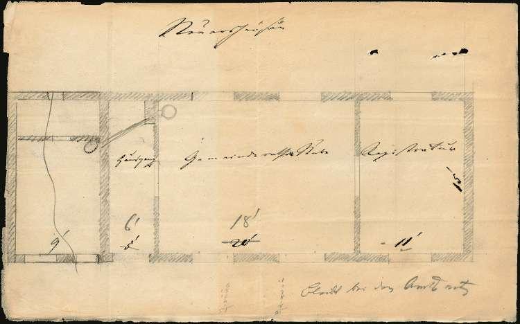 Erbauung eines Gemeindehauses zu den Sitzungen des Gemeinderates und zur Aufbewahrung der Gemeinderegistratur, Bild 1