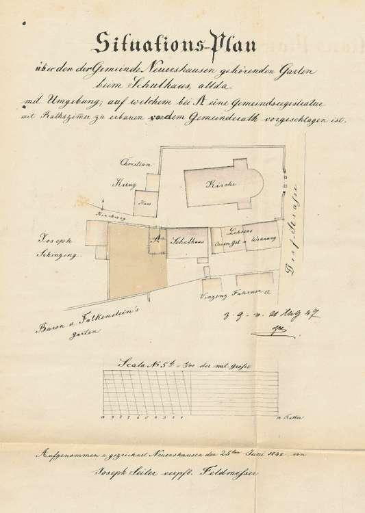 Erbauung eines Gemeindehauses zu den Sitzungen des Gemeinderates und zur Aufbewahrung der Gemeinderegistratur, Bild 2