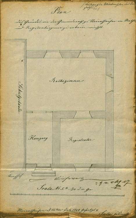 Erbauung eines Gemeindehauses zu den Sitzungen des Gemeinderates und zur Aufbewahrung der Gemeinderegistratur, Bild 3