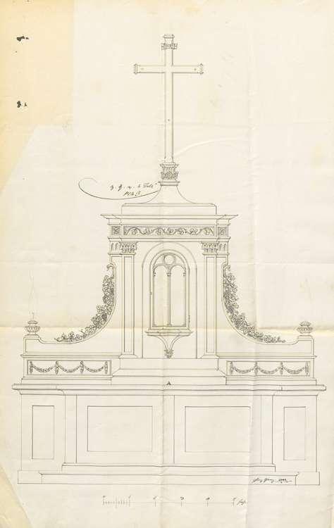 Herstellung eines neuen Hochaltars in der Kirche, Bild 2