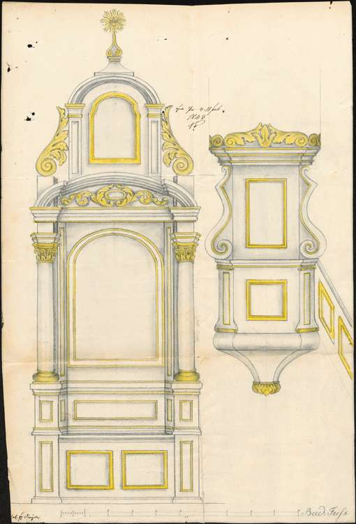 Herstellung eines neuen Hochaltars in der Kirche, Bild 3