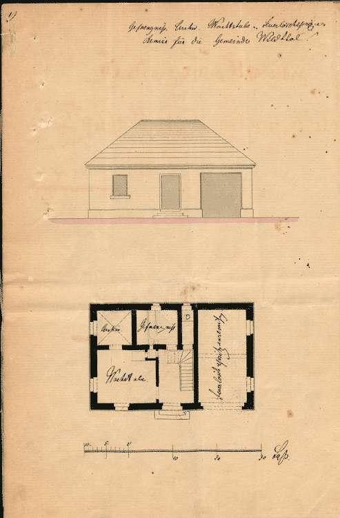 Erbauung eines Gemeindehauses mit Wachtzimmer, Bürgergefängnis und Archiv, Bild 1