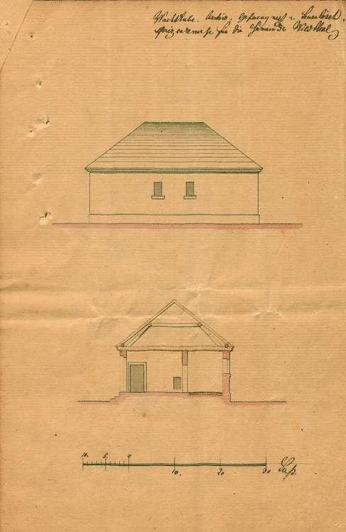 Erbauung eines Gemeindehauses mit Wachtzimmer, Bürgergefängnis und Archiv, Bild 2