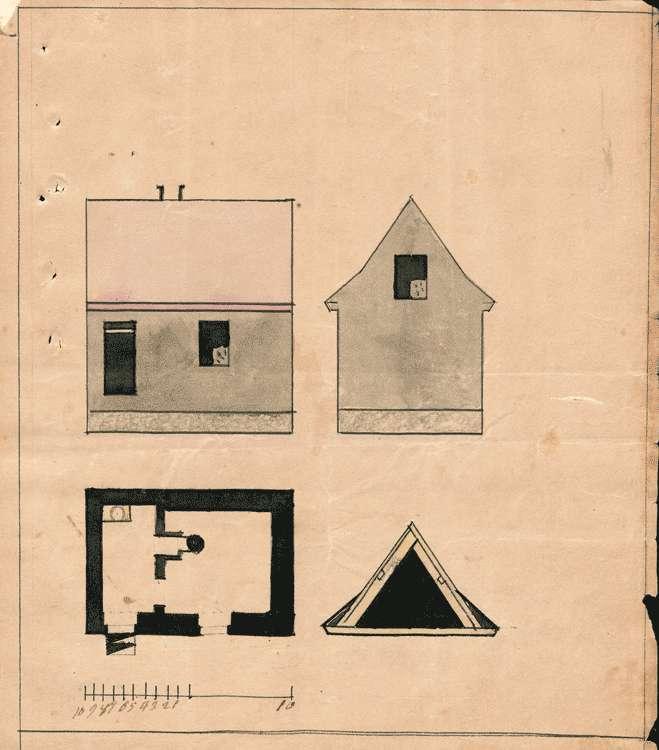 Erbauung eines Gemeindehauses mit Wachtzimmer, Bürgergefängnis und Archiv, Bild 3