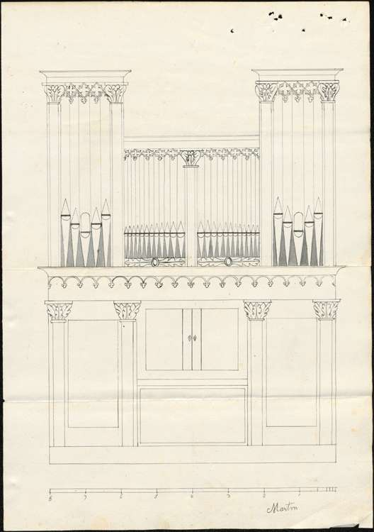 Herstellung der Kirchenorgel, Bild 1