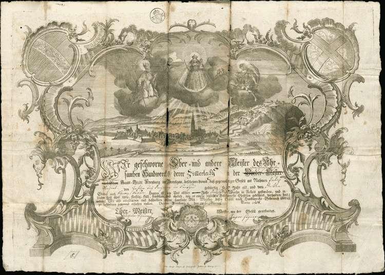 Ausmittelung des Heimatrechts für Joseph Steyert und den Zimmergesellen Jacob Steyert (oder Steigert, oder Steiert), angeblich aus Zastler, Bild 2