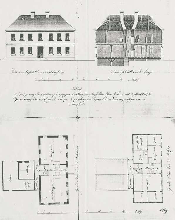 Erbauung eines Schulhauses und sämtliche diesbezüglichen Anordnungen, Bild 1