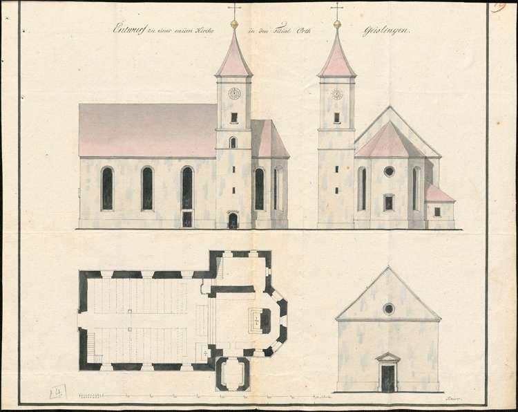 Kirchenbau zu Geißlingen, Bild 1