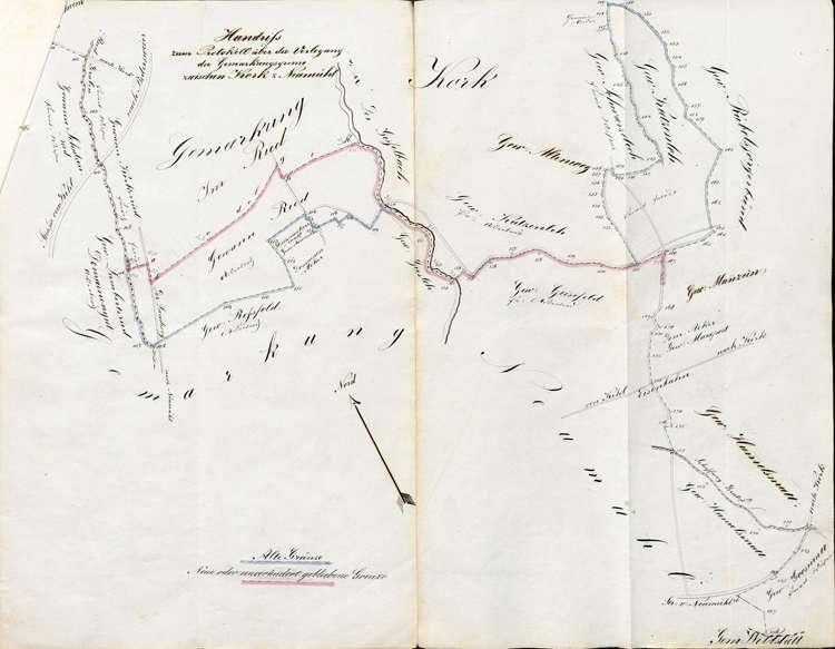 Verlegung der Gemarkungsgrenze zwischen Kork und Neumühl, Bild 1