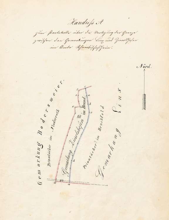 Verlegung der Grenze zwischen der Gemarkung Zierolshofen und den Gemarkungen Legelshurst und Linx, Bild 2