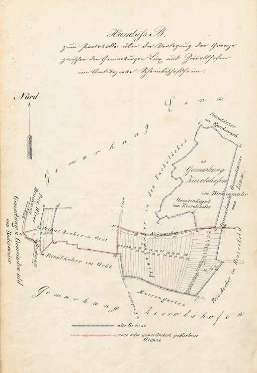 Verlegung der Grenze zwischen der Gemarkung Zierolshofen und den Gemarkungen Legelshurst und Linx, Bild 3