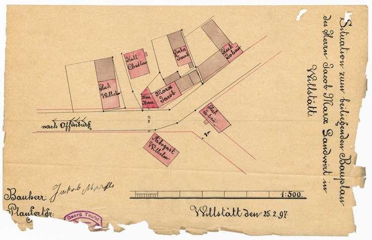 Aufstellung und Erweiterung eines Ortsbauplanes in Willstätt, Bild 2