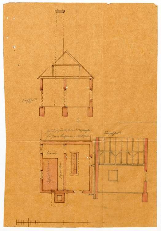 Errichtung einer Dampfmaschine in der Wollspinnerei des Ludwig Kirschmann in Willstätt, Bild 1
