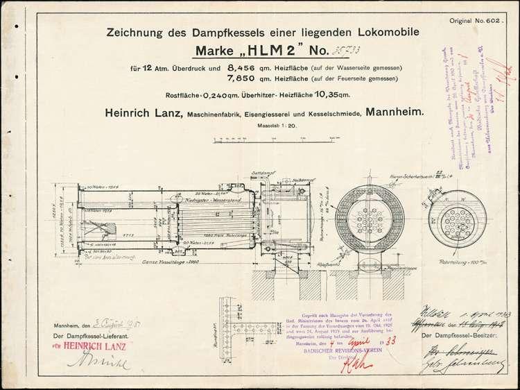 Aufstellung eines Dampfkessels im Sägewerk der Brüder Fehrenbach in Willstätt, Bild 2