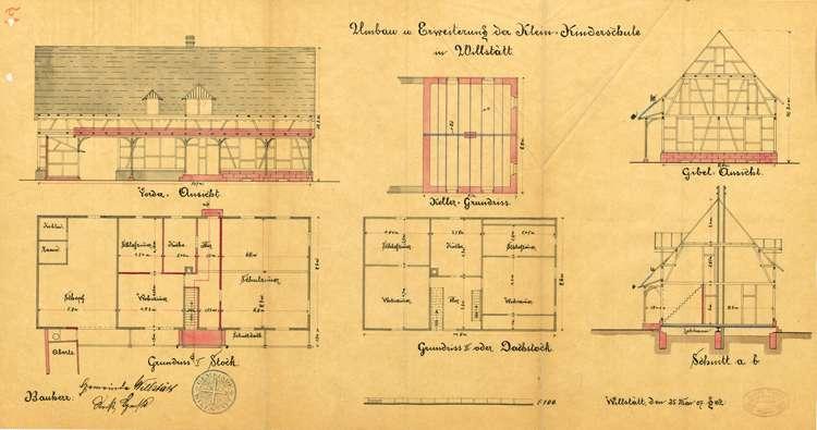 Errichtung und Betrieb einer Kleinkinderschule in Willstätt, Bau eines neuen Schulhauses dafür sowie Nutzung der Räumlichkeiten für Missionsversammlungen, Bild 1