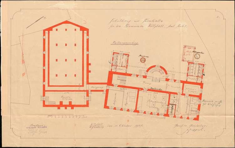 Kostenvoranschlag für den Bau eines Schulhauses mit Turnhalle in Willstätt, Bild 2