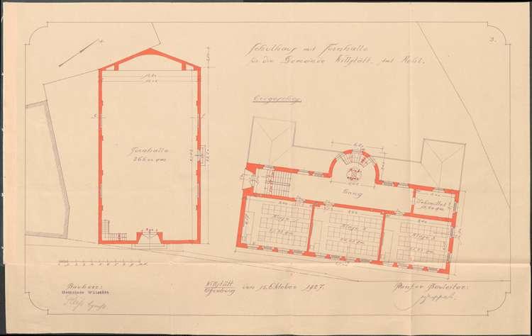 Kostenvoranschlag für den Bau eines Schulhauses mit Turnhalle in Willstätt, Bild 3