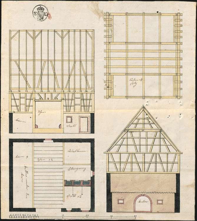 Bau und Unterhaltung des Pfarrhauses mit Nebengebäuden zu Bombach, Bild 2